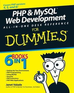 PHP & MySQL Web Development All-in-One Desk Reference For Dummies (Paperback)-cover