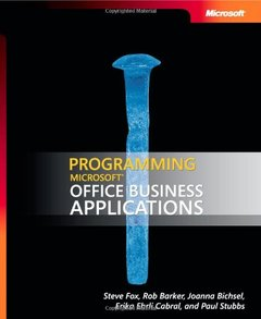 Programming Microsoft Office Business Applications (Paperback)-cover