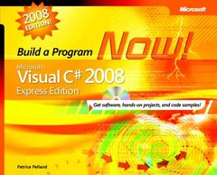 Microsoft Visual C# 2008 Express Edition: Build a Program Now!-cover