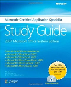 The Microsoft Certified Application Specialist Study Guide (Paperback)-cover