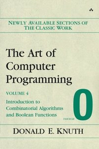 The Art of Computer Programming, Volume 4, Fascicle 0: Introduction to Combinatorial Algorithms and Boolean Functions-cover