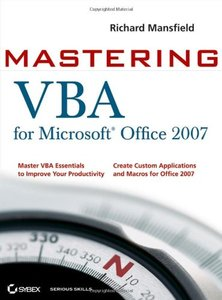 Mastering VBA for Microsoft Office 2007-cover