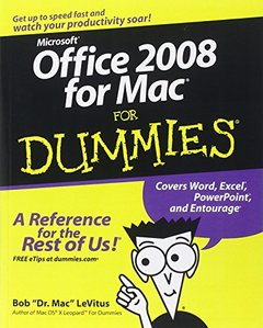 Office 2008 for Mac For Dummies (Paperback)-cover
