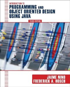 Introduction to Programming and Object-Oriented Design Using Java (Paperback)