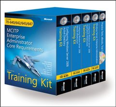 MCITP Self-Paced Training Kit (Exams 70-640, 70-642, 70-643, 70-647): Windows Server 2008 Enterprise Administrator Core Requirements-cover