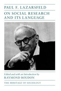 On Social Research and Its Language (Paperback)-cover