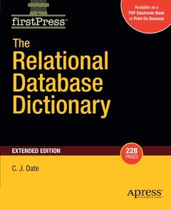 The Relational Database Dictionary, Extended Edition (Firstpress)-cover