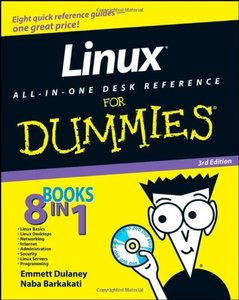 Linux All-in-One Desk Reference For Dummies, 3/e (Paperback)-cover
