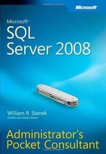 Microsoft SQL Server 2008 Administrator's Pocket Consultant (Paperback)-cover