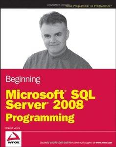 Beginning Microsoft SQL Server 2008 Programming (Paperback)-cover
