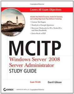 MCITP: Windows Server 2008 Server Administrator Study Guide: (Exam 70-646) (Paperback)-cover
