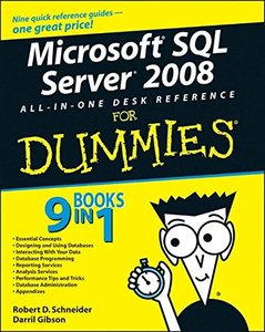Microsoft SQL Server 2008 All-in-One Desk Reference For Dummies (Paperback)-cover