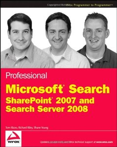Professional Microsoft Search: SharePoint 2007 and Search Server 2008 (Paperback)-cover