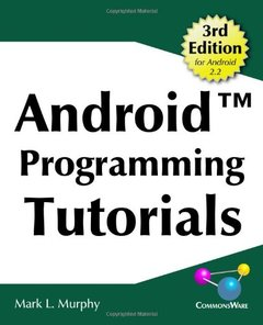 Android Programming Tutorials, 3/e (Paperback)-cover