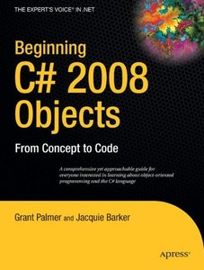 Beginning C# 2008 Objects: From Concept to Code (Paperback)-cover
