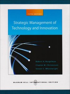 Strategic Management of Technology and Innovation-cover