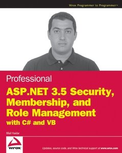 Professional ASP.NET 3.5 Security, Membership, and Role Management with C# and VB (Paperback)-cover
