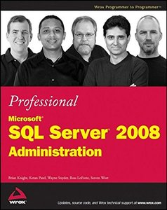 Professional Microsoft SQL Server 2008 Administration (Paperback)-cover