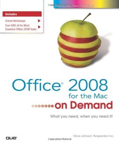 Office 2008 for the Mac on Demand-cover