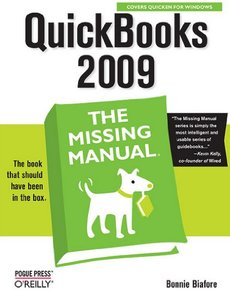 QuickBooks 2009 : The Missing Manual (Paperback)-cover