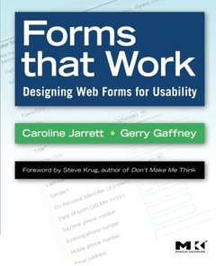Forms that Work: Designing Web Forms for Usability-cover