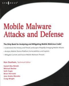 Mobile Malware Attacks and Defense-cover