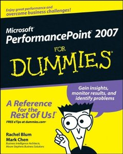 Microsoft PerformancePoint 2007 For Dummies-cover