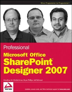 Professional Microsoft Office SharePoint Designer 2007 (Paperback)-cover