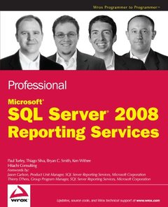 Professional Microsoft SQL Server 2008 Reporting Services (Paperback)-cover