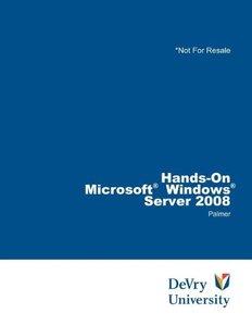 Hands-on:Microsoft Windows Server 2008 (Book+DVD Rom) (Paperback)-cover