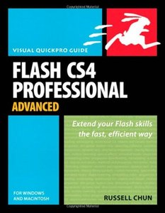 Flash CS4 Professional Advanced for Windows and Macintosh: Visual QuickPro Guide (Paperback)-cover