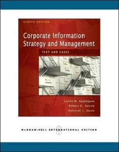 Corporate Information Strategy and Management: Text and Cases, 8/e (IE)-cover