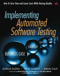 Implementing Automated Software Testing: How to Save Time and Lower Costs While Raising Quality (Paperback)-cover