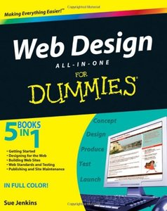 Web Design All-in-One For Dummies (Paperback)-cover