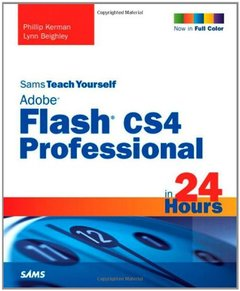 Sams Teach Yourself Adobe Flash CS4 Professional in 24 Hours, 4/e (Paperback)-cover