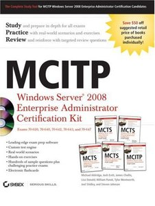 MCITP: Windows Server 2008 Enterprise Administrator Certification Kit (Paperback)-cover