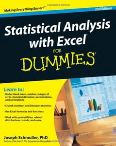 Statistical Analysis with Excel For Dummies, 2/e (Paperback)-cover