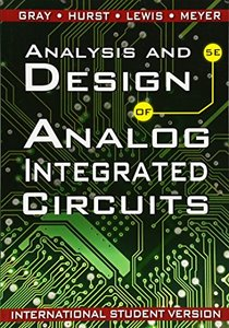Analysis and Design of Analog Integrated Circuits, 5/e (Paperback)-cover