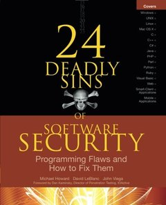 24 Deadly Sins of Software Security: Programming Flaws and How to Fix Them (Paperback)-cover