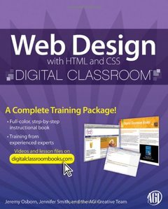 Web Design with HTML and CSS Digital Classroom (Paperback)-cover