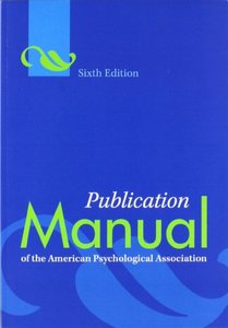 Publication Manual of the American Psychological Association, 6/e(Paperback)