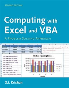 Computing with Excel and VBA: A Problem Solving Approach, 2/e (Paperback)-cover