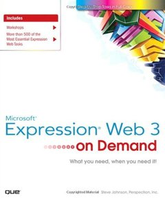 Microsoft Expression Web 3 On Demand (Paperback)-cover