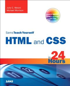 Sams Teach Yourself HTML and CSS in 24 Hours, 8/e (Paperback)-cover