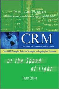 CRM at the Speed of Light, 4/e: Social CRM 2.0 Strategies, Tools, and Techniques for Engaging Your Customers (Hardcover)-cover