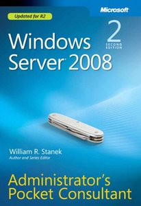 Windows Server 2008 Administrator's Pocket Consultant, 2/e (Paperback)-cover