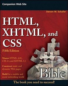 HTML, XHTML, and CSS Bible, 5/e (Paperback)-cover