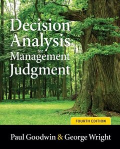 Decision Analysis for Management Judgment, 4/e (Paperback)-cover