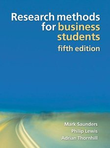 Research Methods for Business Students, 5/e (Paperback)-cover