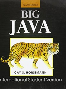 Big Java: for Java 7 and 8, 4/e (IE-Paperback)-cover